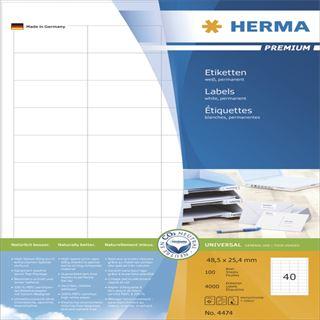 Herma Premium Universal-Etiketten 4.85x2.54 cm (100 Blatt (4000 Etiketten))
