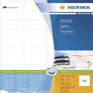Herma 4610 Premium Universal-Etiketten 5.25x2.97 cm (200 Blatt (8000 Etiketten))