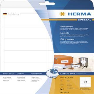Herma 4823 Inkjet-Etiketten 9.7x4,23 cm (25 Blatt (300 Etiketten))