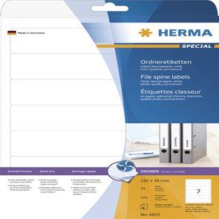 Herma 4825 Inkjet-Ordneretiketten 19.2x3.8 cm (25 Blatt (175 Etiketten))