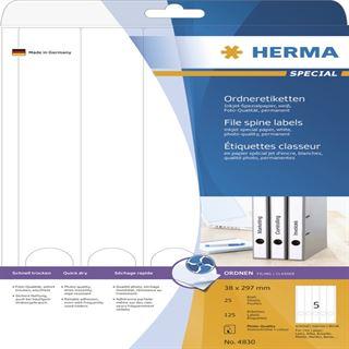 Herma 4830 Inkjet-Ordneretiketten 3.8x29.7 cm (25 Blatt (125 Etiketten))