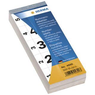 Herma 4890 selbstklebend Nummernblock-Etiketten 2.8x5.6 cm (500 Stück (1-500))