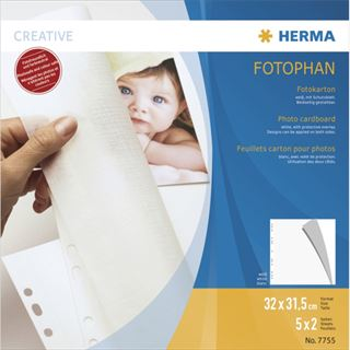 Herma Fotokarton 320 x 315 mm weiß 5 Blatt