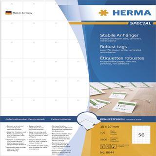 Herma 8044 Stabile Anhänger 3x3.7 cm (100 Blatt (5600 Etiketten))