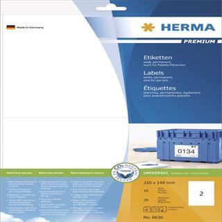Herma 8636 Premium Universal-Etiketten 21x14.8 cm (10 Blatt (20 Etiketten))