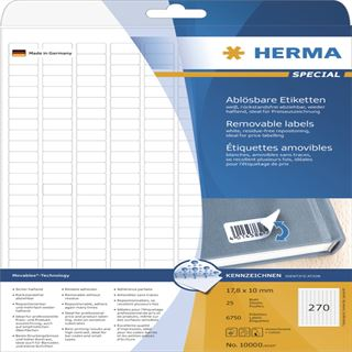 Herma 10000 Universal-Etiketten 1.78x1 cm (25 Blatt (6750 Etiketten))