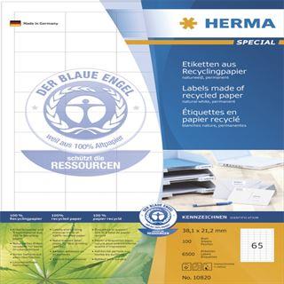 Herma 10820 Universal-Etiketten 3.81x2.12 cm (100 Blatt (6500 Etiketten))