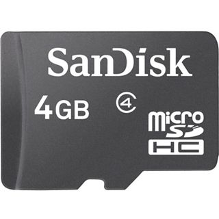 4 GB SanDisk Standard microSDHC Class 4 Retail inkl. Adapter auf SD