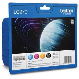 Brother Tinte LC-970 Value Pack LC970VALBPRF schwarz, cyan, magenta, gelb