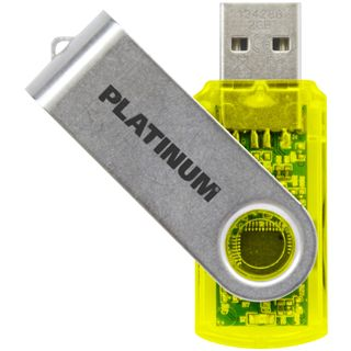 8 GB Platinum Twister gelb USB 2.0