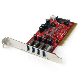 Startech PCIUSB3S4 4 Port PCI-X inkl. Low Profile Slotblech retail
