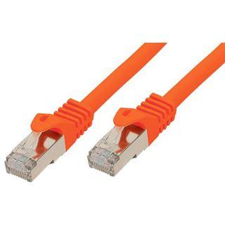 (€7,80*/1m) 0.50m Good Connections Cat. 7 S/FTP PiMF RJ45 Stecker auf RJ45 Stecker Orange halogenfrei