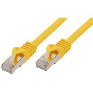 (€9,80*/1m) 0.50m Good Connections Cat. 7 S/FTP PiMF RJ45 Stecker auf RJ45 Stecker Gelb halogenfrei