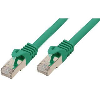 (€2,63*/1m) 3.00m Good Connections Cat. 7 S/FTP PiMF RJ45 Stecker auf RJ45 Stecker Grün halogenfrei