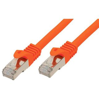 (€2,30*/1m) 3.00m Good Connections Cat. 7 Patchkabel S/FTP PiMF RJ45 Stecker auf RJ45 Stecker Orange halogenfrei