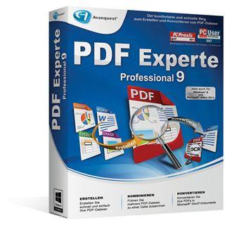Avanquest PDF Experte 9.0 Professional 32/64 Bit Deutsch Grafik Vollversion PC (DVD)