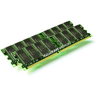 1GB Kingston Value DDR-400 DIMM CL3 Dual Kit