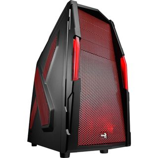 AeroCool Strike-X Xtreme Devil Red Edition Midi Tower ohne Netzteil schwarz/rot