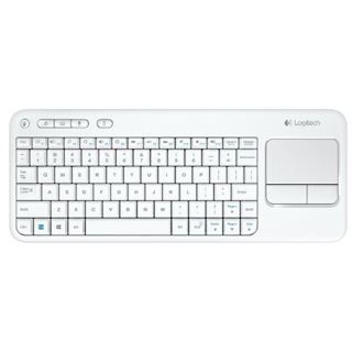 Logitech K400 Wireless Touch Keyboard USB Deutsch weiß (kabellos)