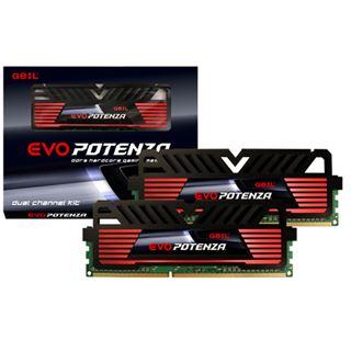 16GB GeIL EVO Potenza Onyx schwarz DDR3-2133 DIMM CL11 Dual Kit