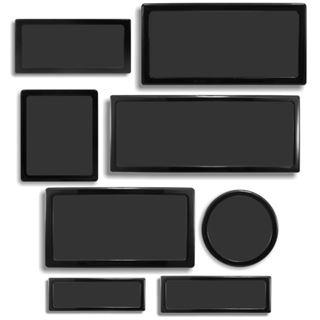 DEMCiflex Corsair Set schwarz Staubfilter für Air 540 (DF0431)