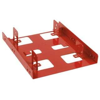 """Sharkoon 3.5"""" BayExtension rot Einbaurahmen für 2x 2.5"""" Festplatten (4044951013593)"""