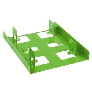 """Sharkoon 3.5"""" BayExtension grün Einbaurahmen für 2x 2.5"""" Festplatten (4044951013609)"""