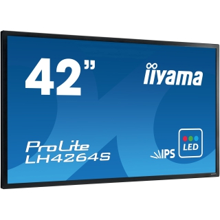 "42"" (106,68cm) iiyama ProLite LH4264S schwarz 1920x1080 BNC/HDMI/1xKomponenten (YUV)/1xComposite/VGA/DVI-D/DisplayPort/seriell"