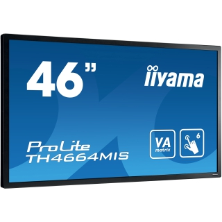 "46"" (116,84cm) iiyama ProLite TH4664MIS schwarz 1920x1080 BNC/1xHDMI 1.3/1xKomponenten (YUV)/1xComposite/S-Video/VGA/DVI-D/DisplayPort/seriell"