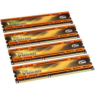 32GB TeamGroup Vulcan Series orange DDR3-1866 DIMM CL10 Quad Kit