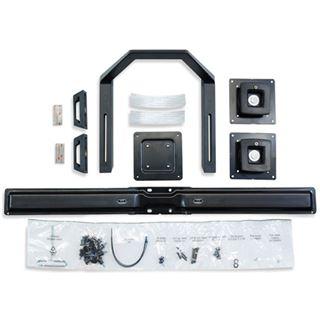 Ergotron 97-783 Dualmonitor und Griff-Kit Wandhalterung schwarz