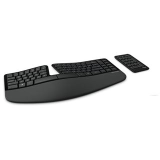 Microsoft Sculpt Ergonomic Keyboard OEM USB Deutsch schwarz (kabellos)