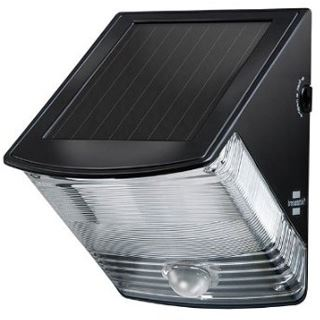 Brennenstuhl Solar LED-Wandleuchte SOL 04 plus, schwarz