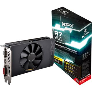 1GB XFX Radeon R7 250 Core Edition Aktiv PCIe 3.0 x16 (Retail)