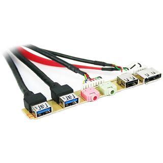 Cooltek 2x USB 3.0 + USB 2.0 + e-SATA + Audio I/O-Panel für Cooltek K2 Midi Tower (CT-KII USB 3.0)