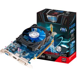 2GB HIS Radeon R7 250 iCooler Aktiv PCIe 3.0 x16 (Retail)