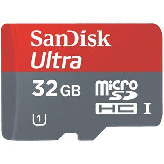 32 GB SanDisk Ultra microSDHC Class 10 Retail inkl. Adapter