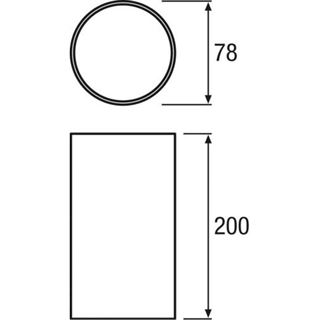 Osram Bodeneinbautopf D=78mm AQUALED2 Einbautopf