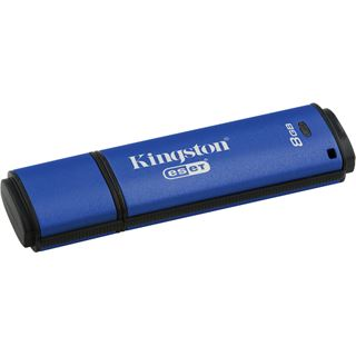 8 GB Kingston DataTraveler Vault Privacy Edition inkl. ESET AntiVirus blau USB 3.0
