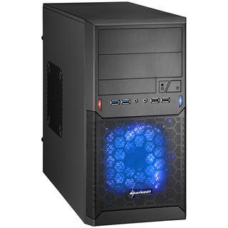 Sharkoon MA-M1000 USB 3.0 Mini Tower ohne Netzteil schwarz