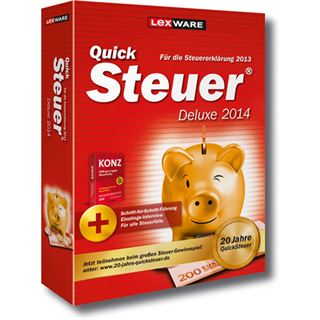 Lexware QuickSteuer Deluxe 2014 32/64 Bit Deutsch Office Vollversion PC (CD)