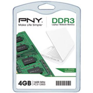 4GB PNY SOD104GBN/12800/3-BX DDR3-1600 SO-DIMM CL11 Single