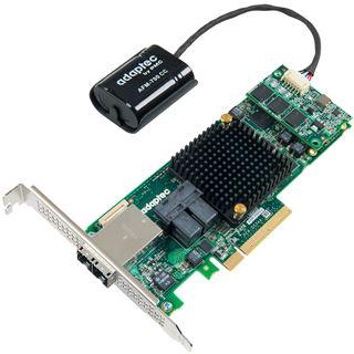 Adaptec 8885Q 2277100-R 2 Port Multi-lane PCIe 3.0 x8 Battery Backup Unit/Low Profile retail