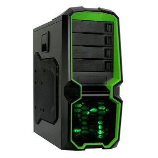 Raidmax Blackstorm Green Midi Tower ohne Netzteil schwarz