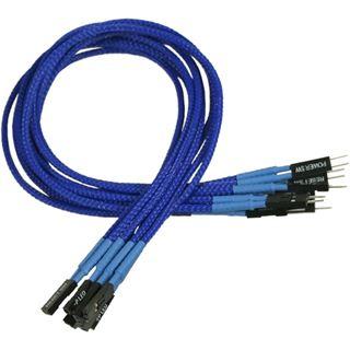 Nanoxia 30 cm blaues einzelsleeve Verlängerungskabel für Frontpanel (NXFPV3EBLUE)