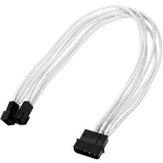 Nanoxia 30 cm weißes Y-Kabel für 4-Pin Molex zu 2x 3-Pin (NX42A30W)