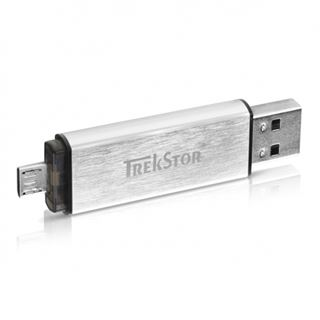 16 GB TrekStor DUO silber USB 2.0