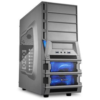 Sharkoon Vaya II Value mit Sichtfenster Midi Tower ohne Netzteil Gunmetal
