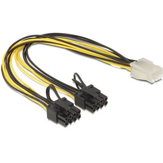Delock PCI Express 2x 8 Pin Stromverbindungskabel für 1x 6 Pin (83433)