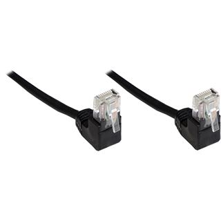 (€1,95*/1m) 2.00m Good Connections Cat. 5e Patchkabel F/UTP RJ45 Stecker auf RJ45 Stecker Schwarz 90° gewinkelt